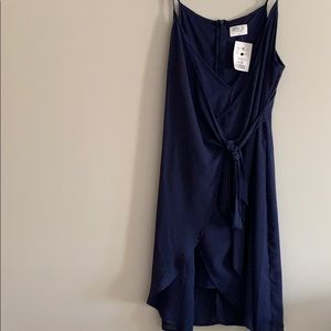 Navy blue wrap dress. Size Small. Never worn.